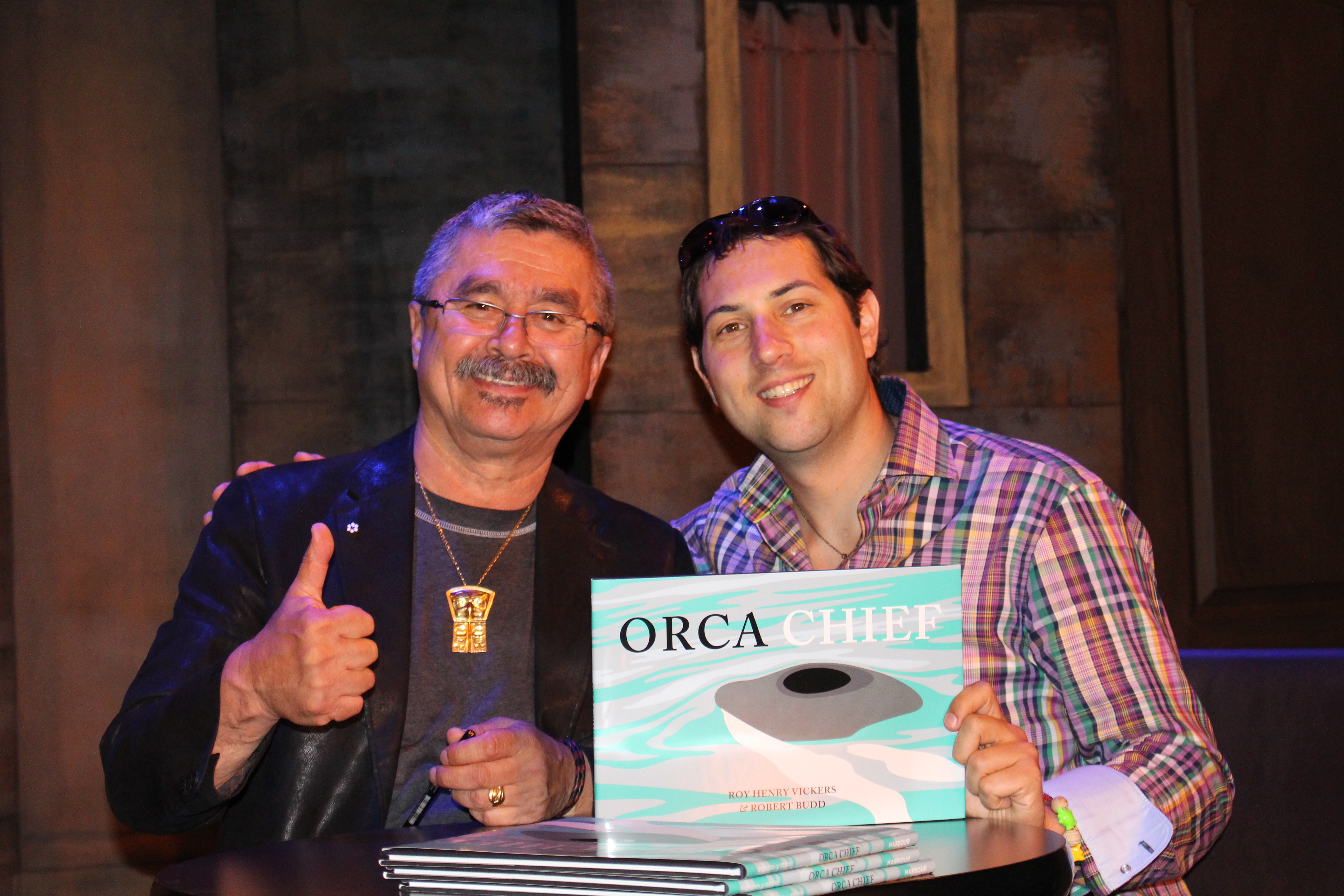This photo was taken at the Orca Chief book launch in Vancouver May 9, 2015
